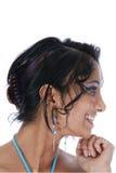 Female profile Stock Photo