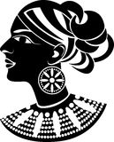 Female profile in african style Stock Photography