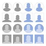 Female profile icons Stock Images
