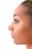 Female profile. Profile of a young woman multi ethnic race Royalty Free Stock Images