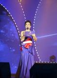 Female program host tangzishu Royalty Free Stock Image