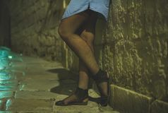 Female prostitute. Royalty Free Stock Images