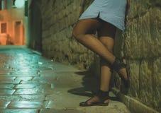 Female prostitute. Stock Photo