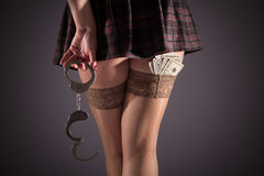 Female prostitution Stock Images
