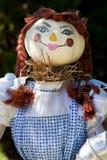 Female pumpkin headScarecrow for Halloween. Female pumpkin head scarecrow for Halloween Stock Photos