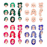 Female punk hair Royalty Free Stock Image