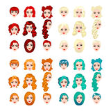 Female punk hair Royalty Free Stock Images