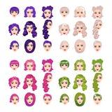 Female punk hair Stock Images