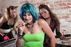 Female punk rock band Royalty Free Stock Image