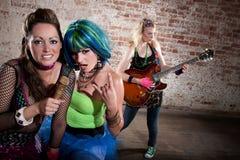 Female punk rock band Royalty Free Stock Image
