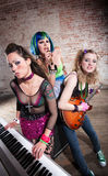 Female punk rock band Royalty Free Stock Photos