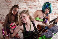 Female punk rock band Royalty Free Stock Photography