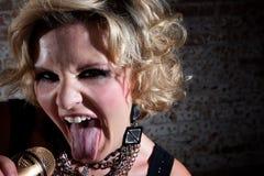 Female punk rocker Stock Image