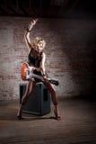 Female punk rocker Stock Photo