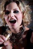 Female punk rocker Royalty Free Stock Image