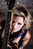 Female punk rocker Royalty Free Stock Photo