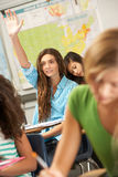 Female Pupil Answering Question In Classroom Royalty Free Stock Image