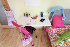 Female pupil room Stock Images