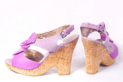 Female purple shoes Stock Image