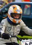 Female racer Royalty Free Stock Images
