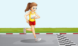 A female racer Royalty Free Stock Photography