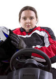 Female Racer Stock Photo
