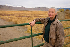 Female rancher Stock Photo