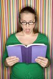 Female reading book. Stock Images