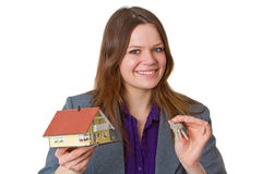 Female real estate agent Stock Image