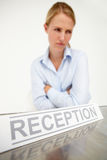 Female receptionist Stock Image