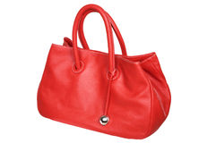 Female red bag Stock Photo