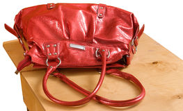 Female red bag. Stock Image