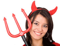 Female Red Devil Royalty Free Stock Photography