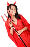 Female red devil Royalty Free Stock Photo