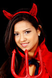 Female red devil Royalty Free Stock Image