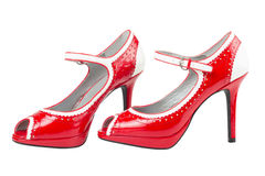 Female red high heel shoe Royalty Free Stock Images
