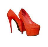 Female red high heels Royalty Free Stock Image