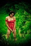 Female in Red Lingerie Stock Image