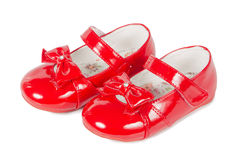 Female red shoes Royalty Free Stock Photo