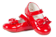 Female red shoes Stock Images