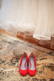 Female red shoes Stock Photo