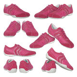 Female red sneakers Royalty Free Stock Photos