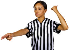 Female Referee Royalty Free Stock Images