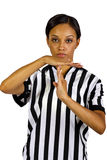 Female Referee. Young African American female referee in a professional uniform Stock Photography