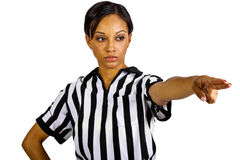 Female Referee Royalty Free Stock Photos