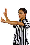 Female Referee Stock Photo
