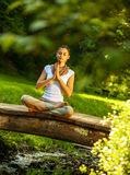 Female relaxing in nature Stock Image