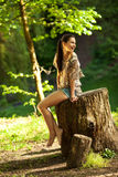 Female relaxing in nature Stock Images