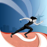 Female relay runner for Sports concept. Royalty Free Stock Image