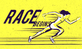 Female relay runner for Sports concept. Royalty Free Stock Images